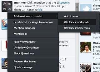 Add to UserLists-Seesmic-Windows